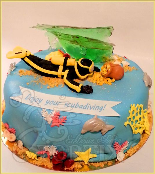 Torte für Diving-Fan